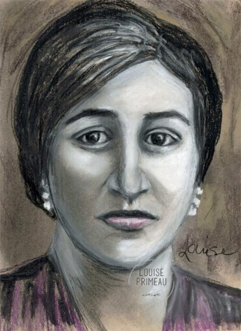 charcoal vintage portrait of Italian immigrant