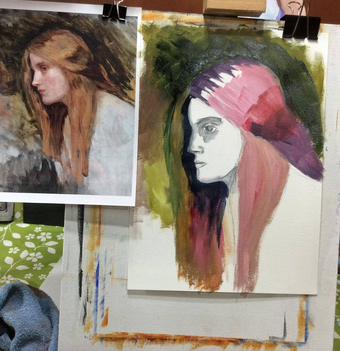 adding eye to study of John William Waterhouse