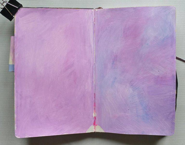 Neocolor II background in journal