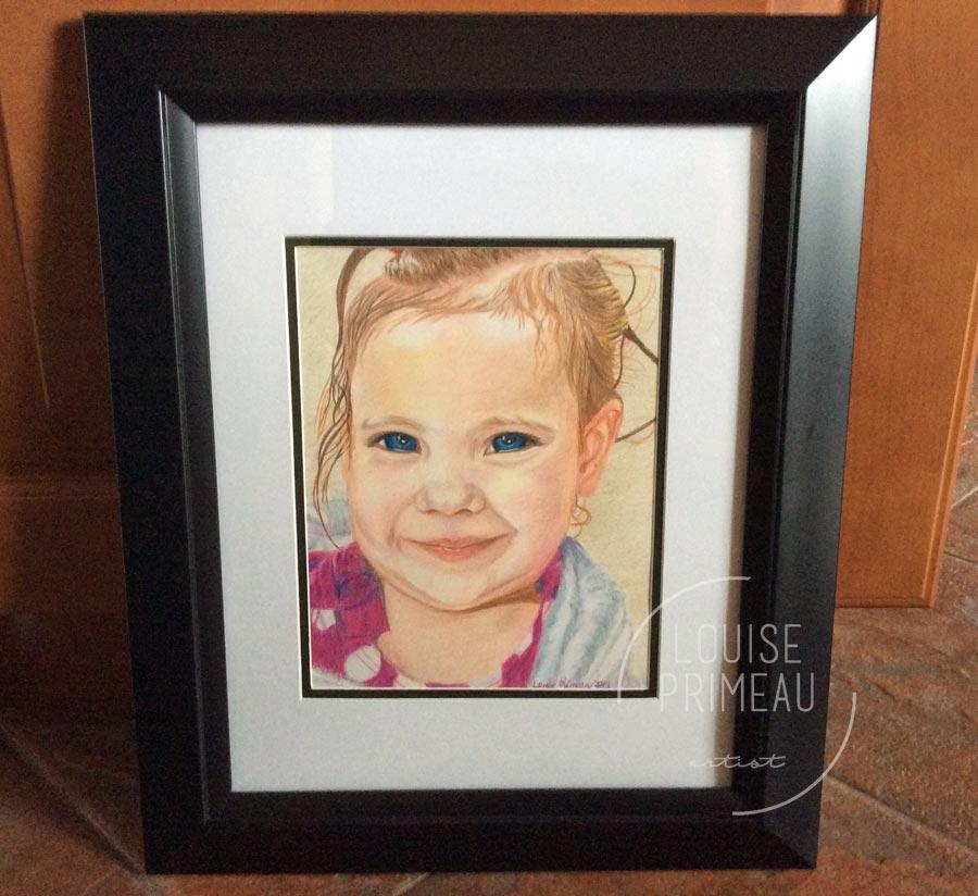 framed Cooling off 2010- Prismacolor pencil