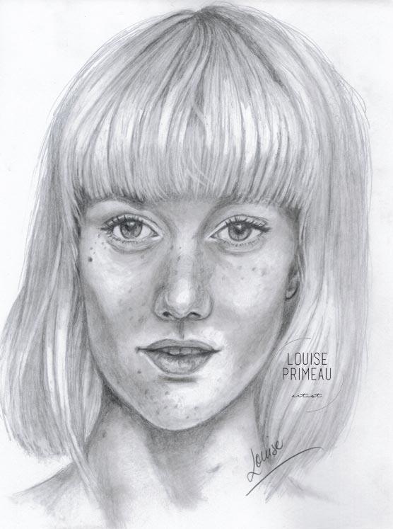 Under scrutiny - graphite sketch