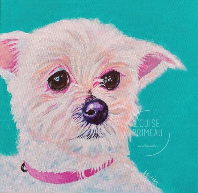 Sophie - acrylic portrait