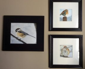 watercolour birds by Louise's ARTiculations