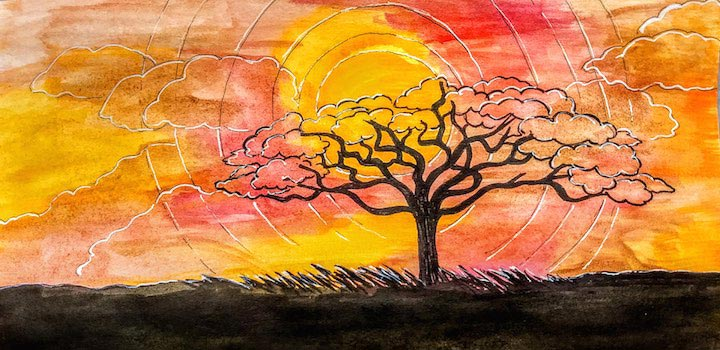 African Sunset by Kathy Whitham.