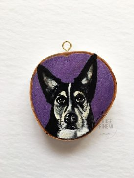 Ziggy, custom pet portrait by Ottawa artist, Louise Primeau