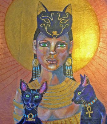 Bastet by Jan Byers, guest artist at Louise's ARTiculations