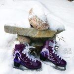 Painted skates by Ottawa artist, Louise Primeau