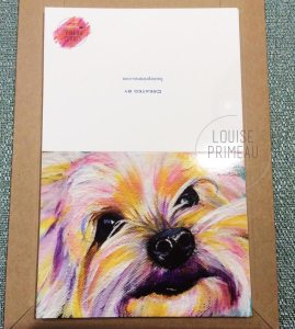 Custom cards of pet portrait