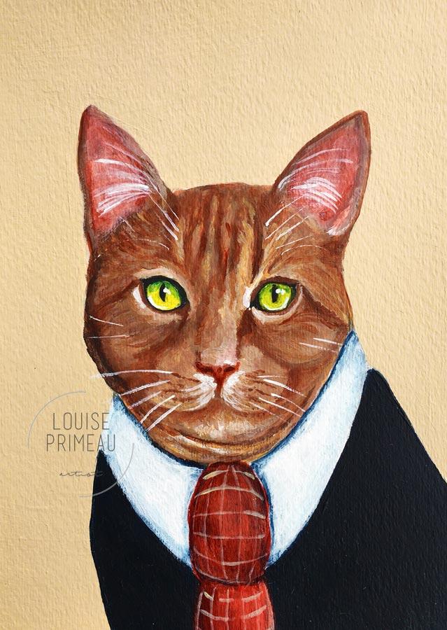 Custom pet portrait by Louise's ARTiculations
