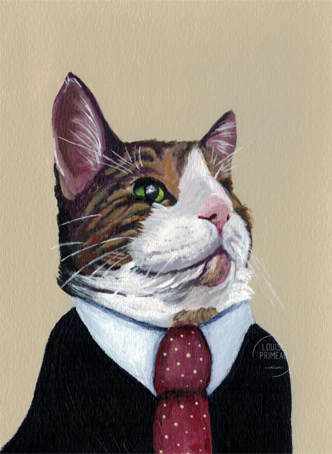 Pet portrait, Azara the cat, by Louise's ARTiculations in Ottawa, Canada.
