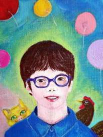 Alexis, commission by Eleonora Medwell, guest artist at Louise's ARTiculations