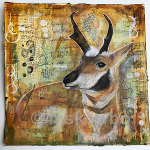 Antelope by Monica Skowbo at Louise's ARTiculations