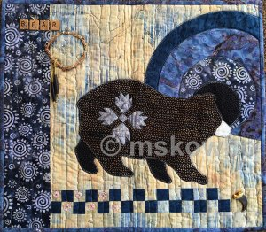 Bear quilt by Monica Skowbo at Louise's ARTiculations