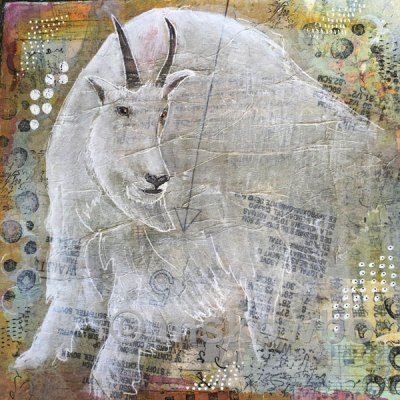 Mountain Goat by Monica Skowbo at Louise's ARTiculations