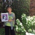 Louise Primeau and the portrait