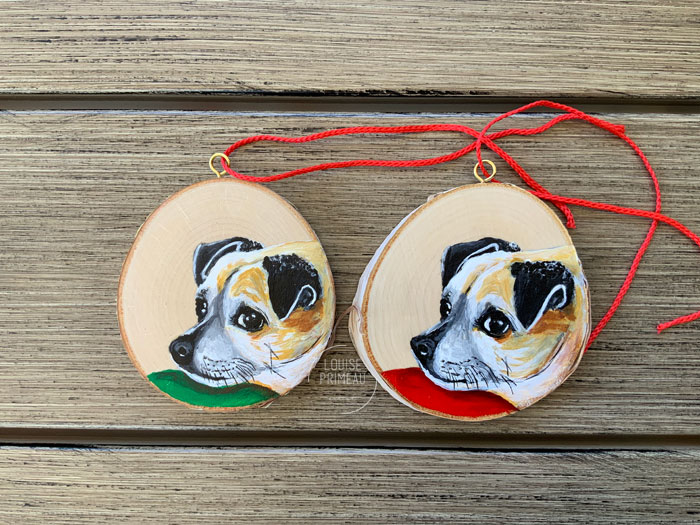 Wood slice ornaments - Chester