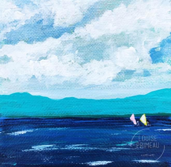 Summer Breeze, acrylic landscape by Louise Primeau