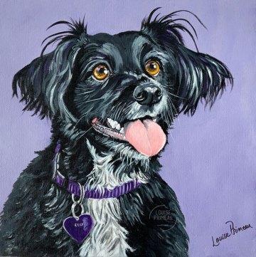 Elli, custom pet portrait by Louise Primeau