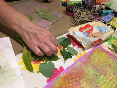 Selecting leaves for Gelli plate