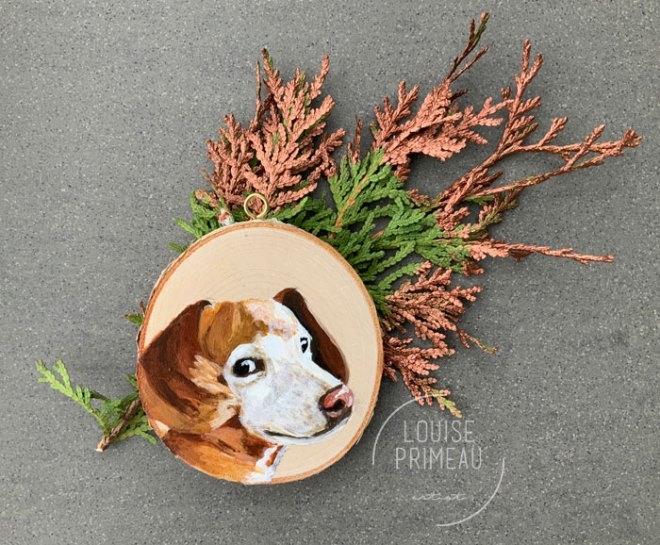 Tekel custom pet portrait