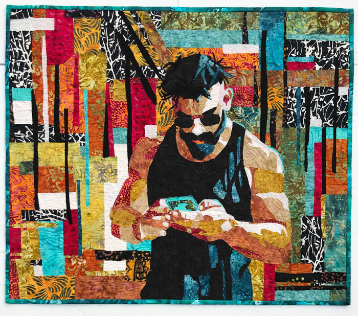 Art quilt by Suzanne Munroe, featured artist at Louise's ARTiculations