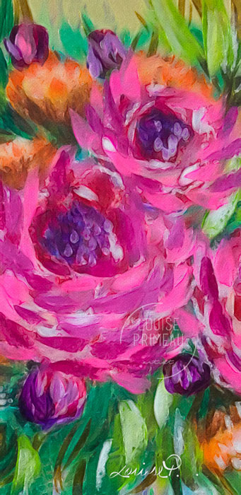 pink roses by Louise's ARTiculations