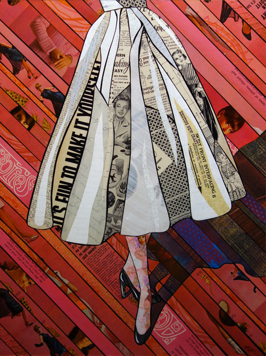 """""""It's fun to make it yourself"""" paper mosaic by Bebe Keith, guest artist at Louise's ARTiculations."""
