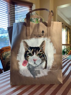 Tigger painted on paper bag by Louise's ARTiculations