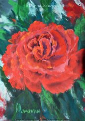 Red Rose by Donna Donovan, guest artist at Louise's ARTiculations
