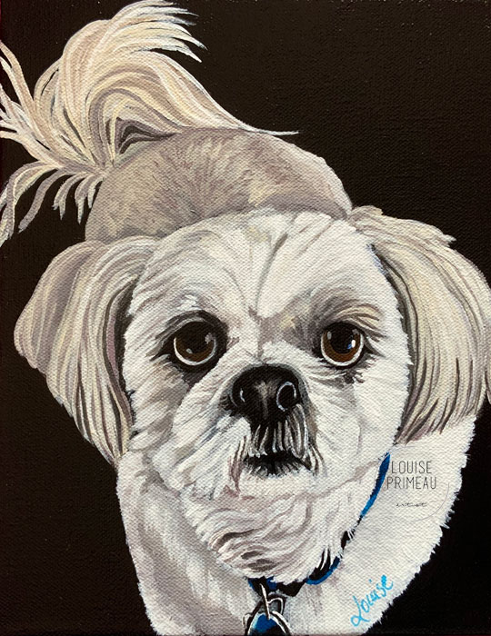 Tommy's custom pet portrait by Louise's ARTiculations