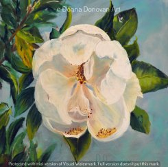 White Magnolia by Donna Donovan, guest artist at Louise's ARTiculations