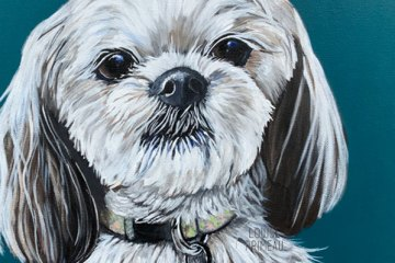 Kia, custom pet portrait by Louise's ARTiculations