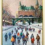 Winter in Ottawa by Anna Jalava, Canadian artist.