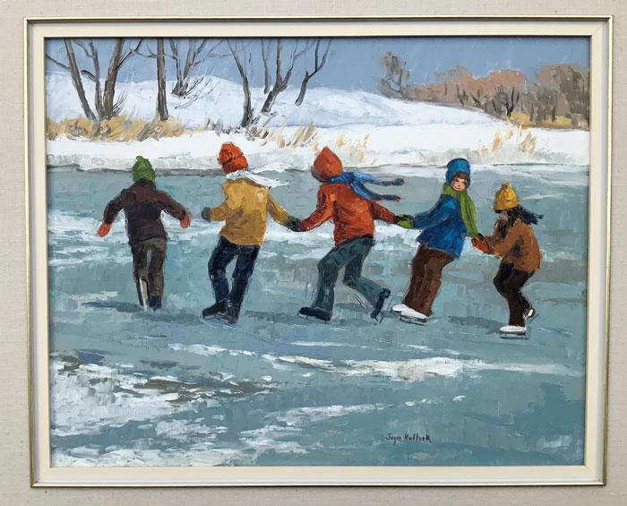 Crack the Whip by Canadian artist Joyce Kellock