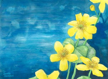 Golden Marigold by Soila Tuominen, guest artist at Louise's ARTiculations