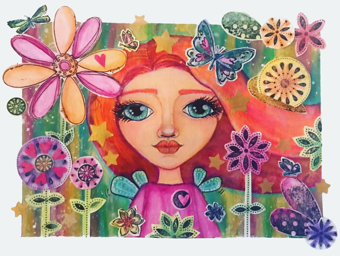 Flower Power by Shawnta Cermeno, guest artist at Louise's ARTiculations