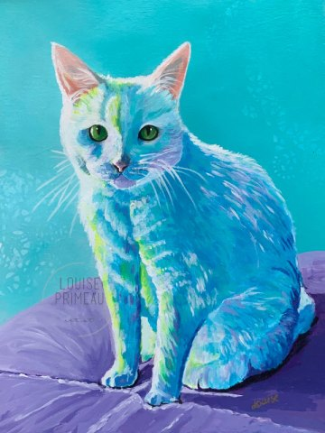 Pet portrait Boo by Louise Primeau
