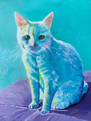 Pet portrait Boo by Louise Primeau