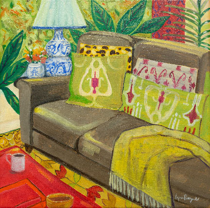 Cozy Place by Lynne Payne, guest artist at Louise's ARTiculations