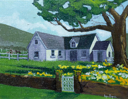 Home Place by Lynn Payne, guest artist at Louise's ARTiculations