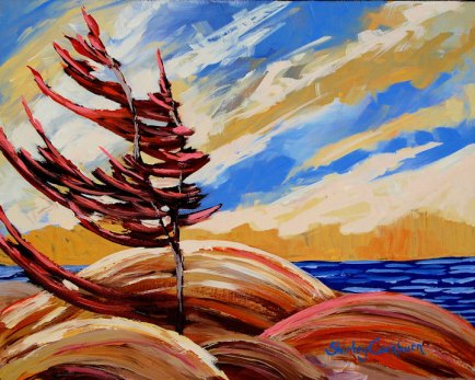 Northern Shores by Shirley Rose Cockburn, featured artist at Louise's ARTiculations