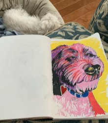 Lucy, sketch with markers by Louise' s ARTiculations
