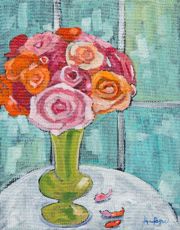 Window Blooms by Lynn Payne, guest artist at Louise's ARTiculations