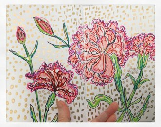 Carnations by Louise's ARTiculations