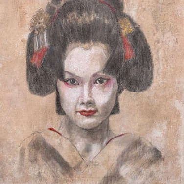 Geisha by Nelvia McGrath, guest artist at Louise's ARTiculations