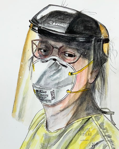 PPE 2020 sketch by Louise's ARTiculations