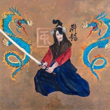 Samurai Geisha by Nelvia McGrath, featured artist at Louise's ARTiculations