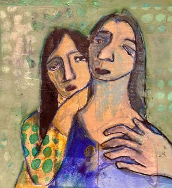 Soulmates #3 by Rossana Russo, guest artist at Louise's ARTiculations