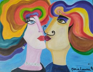 Dali and Gala by Maria Laura Vila, guest artist at Louise's ARTiculations