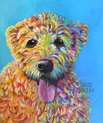 Axl, Wheaten Terrier portrait by Louise Primeau, pet portrait artist